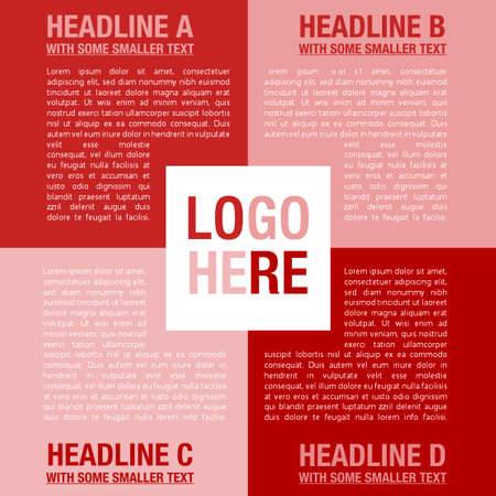 Vector company infographic template with logo and nice typography Illustration