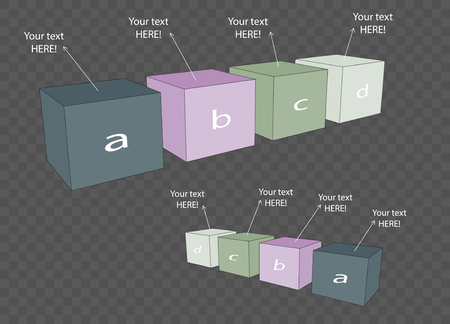 Vector cube template for infographic or web design Illustration