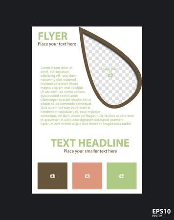 Flyer concept brochure template for business, education, presentation, website, magazine cover. Illustration