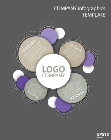 Vector circle infographic template with logo for business, education, presentation, website.