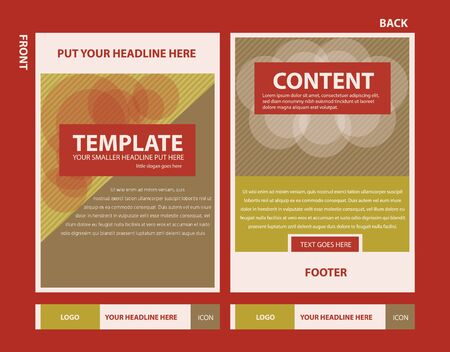 Brochure template design with pattern lines. Vector illustration of graphic design.