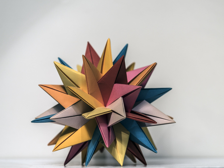 Origami paper star polyhedron