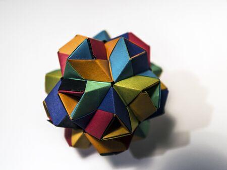 Origami paper polyhedron Stock Photo