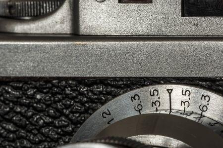 viewfinder vintage: Old camera macro deatil Stock Photo