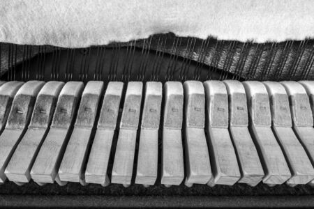 octaves: Wooden parts inside a piano
