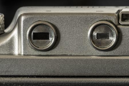Old camera viewfinder macro deatil