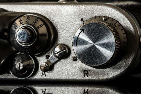 deatil: Old camera macro deatil Stock Photo