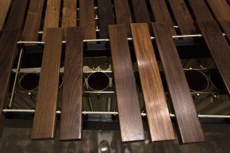 modern wooden marimba closeup