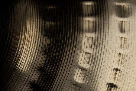 crash cymbal surface macro closuep Stock Photo