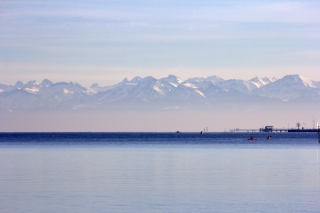 Lake of Constance View of alps photo