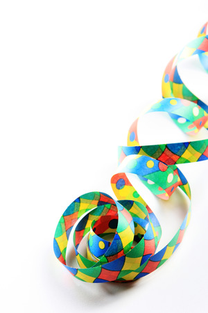fasnacht: streamers and confetti as decoration for parties