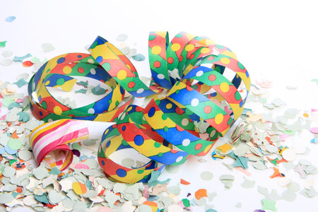 fasnacht: streamers and confetti as decoration Stock Photo