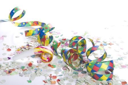 streamers and confetti as decoration Standard-Bild