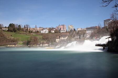 Rhine Falls in Neuhausen, near Schaffhausen in Switzerland