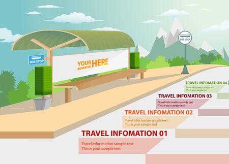 bluff: Bus stop Illustration