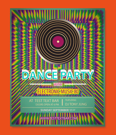 Dance Party Poster Stockfoto - 34242028