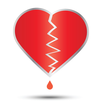 heartbroken: Heartbroken and heart vector design Illustration