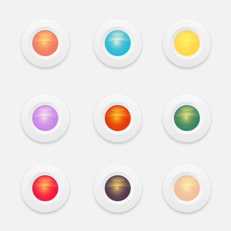 button set: Web cycle button set