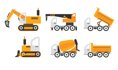 construction machinery: Construction machinery set yellow color