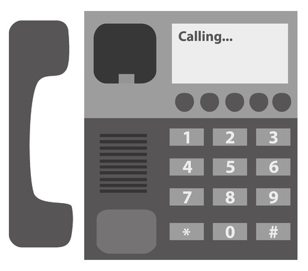 miss call: Black Desktop phone icon