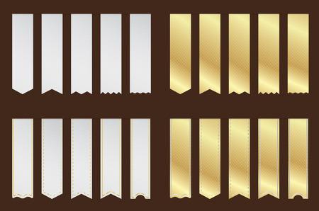 Stichworte Band Silber und Gold Illustration