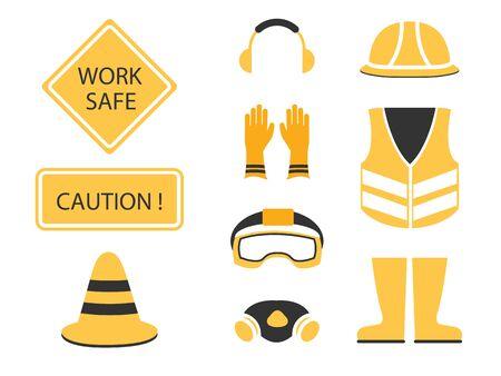 hazmat: Safety first set Illustration