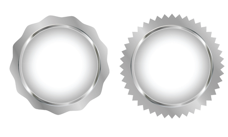 blank tag: Silver Blank tag set