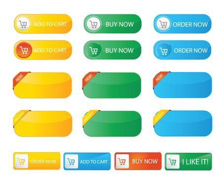 botton: Fresh color buy now web botton Illustration