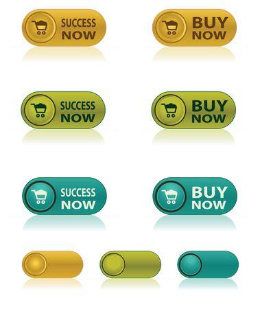 botton: luxury Buy now web botton Illustration