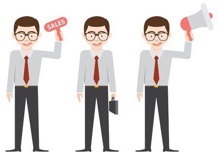 business man and sale man Illustration
