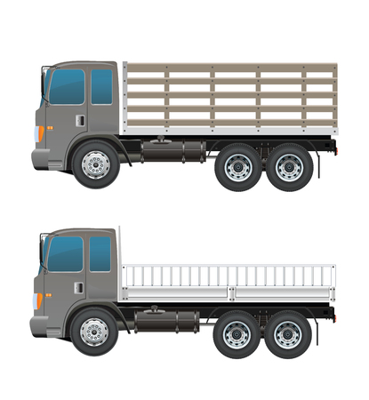 Modern Fram truck Illustration