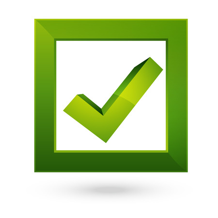 checklist: Right check symbol on green square
