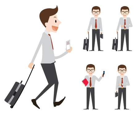 Business man go to trip for work at anoter city Stock Vector - 46807133