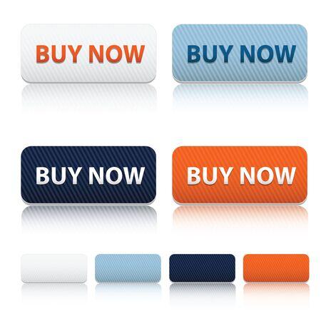 Modern Buy now and blank web botton Ilustrace