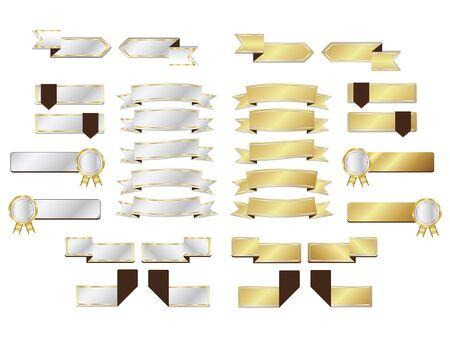 silver ribbon: blank Gold and silver ribbon Illustration