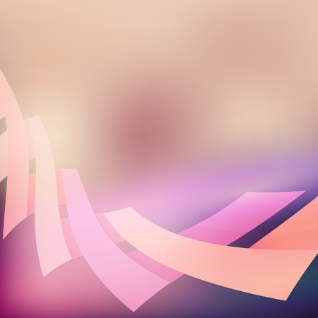 abstract backround: Pink and purple bending line abstract backround