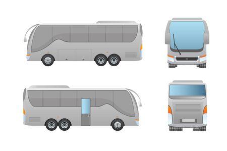 mock: Bus mock up ten wheel Illustration