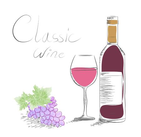 wine concept Ilustrace