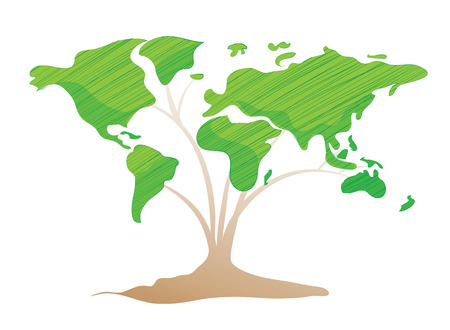 green world: Green world concept Illustration