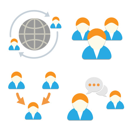 business communication: Communication network business concept icon design