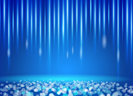 halation: Blue Light and Blurred halation colored shooting star background