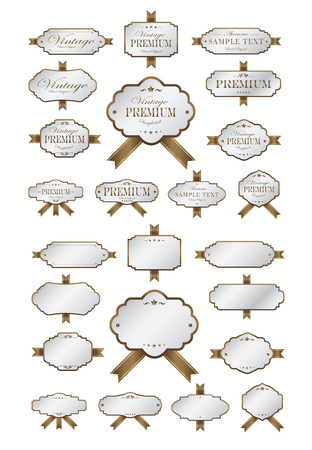 brow: Luxury soft brow labels and blank labels template Illustration