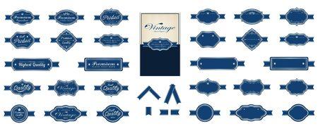 brows: Luxury vintage blue premium labels Illustration