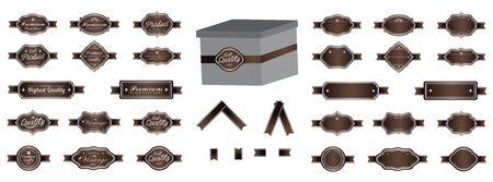 brow: Luxury brow premium vintage labels