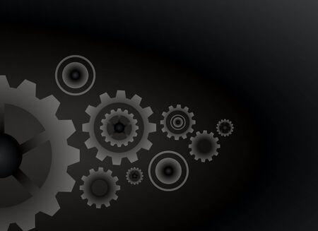 watch movement: Cogs wheels black color background Illustration