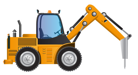 drilling machine: Drilling car machine model vector design Illustration