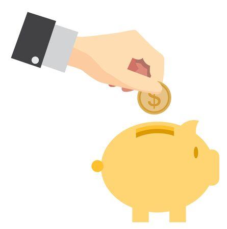 coin bank: Piggy bank saving money concept