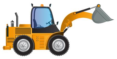 loader: Loader yellow car design model Illustration