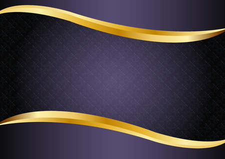 Luxury purple with gold lines background design