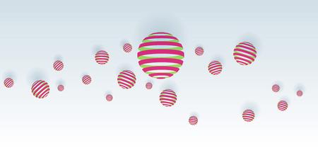 illust: Pink balls abstract on white background Illustration